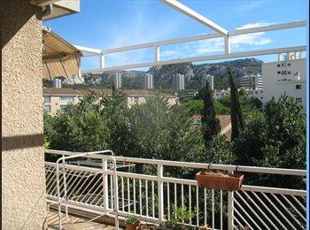 Appartager FR - Chambre dans T4 meublé école hotelière ou ENSM - 8ème Arrondissement, Marseille - €400