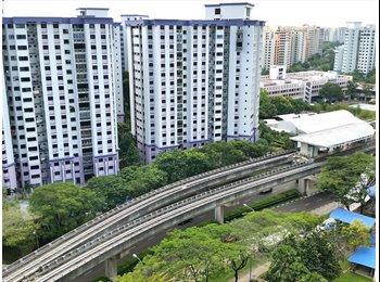 $500 High floor unblock view, 2 Stops Sengkang MRT