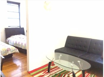 50 street sunny apt furnished with maid Wifi 2 block to...