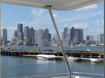 40 FOOT BOAT WITH GREAT VIEW OF BOSTON  MAY 1ST