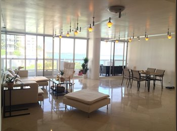 Downtown, Miami: Bayview apt available for 1 month March
