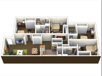 EasyRoommate US - Bedroom Sublet - Lawrence, Lawrence - $400