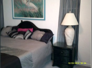 Furnished Room for rent with private bath,