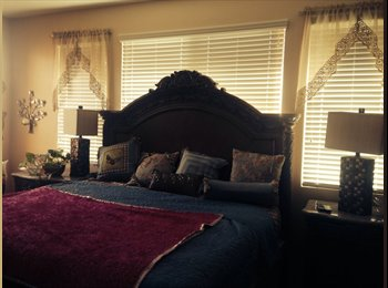 Bright Master Bedroom for rent