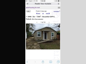 1 bd in 2 bd home