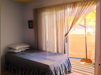 Quiet , Lovely master suite with private bath & balcony