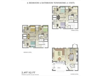 Need a 2 bedroom apartment with your friend?($555)