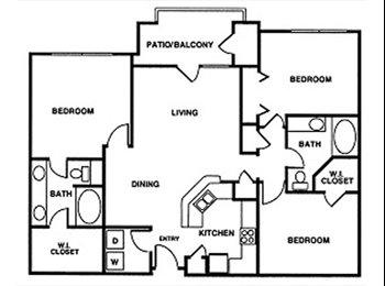 EasyRoommate US - 3bed 2 bath apt - Looking for 1 or 2 roommates - Houston, Houston - $1054