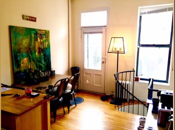 Room available in duplex in Park Slope (& yard!)