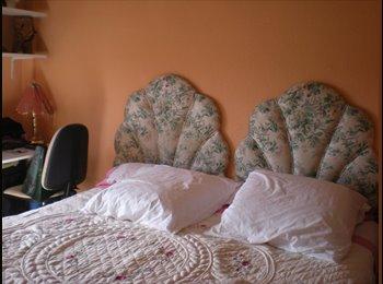 habitación con cama muyyy grande