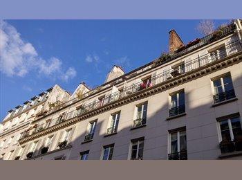 Appartager FR - Grande chambre avec balcon / couple acceptés - 10ème Arrondissement, Paris - Ile De France - 1050 € / Mois