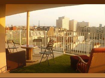 Appart avec terrasse vue sur Paris et coloc génial