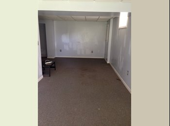 Basement for rent with bathroom and sunroom
