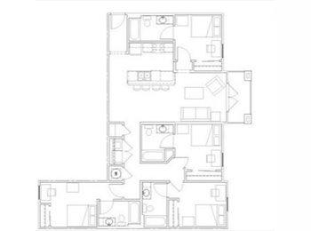 EasyRoommate US - $450 for 1 Room in 4 Bedroom Apartment  - Sublease - Louisville, Louisville - $450 pcm