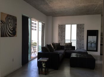 EasyRoommate US - 2/2 loft downtown Miami  - Brickell Avenue, Miami - $1,100 pcm