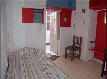 Pequeña y economica habitacion con baño en Centro