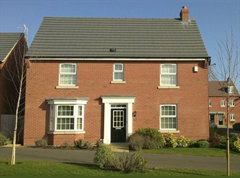 EasyRoommate UK - New 4 bedroom house  - Room available £400 - Barwell, Leicester - £400 pcm