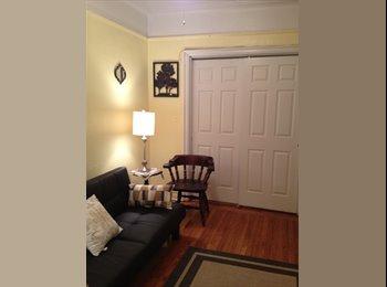 large furnished bedroom on Riverside Drive