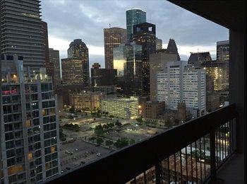 EasyRoommate US - Houston House Apartments 2x2, 28th Floor - Downtown, Houston - $867 pcm