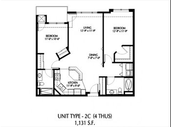 $730 looking for a roommate for 2 bedroom apartmen