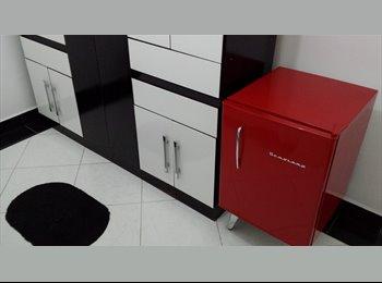 EasyQuarto BR - Apartamento Lindo Mobiliado Regiao Alphaville - Barueri, RM - Grande São Paulo - R$ 890 Por mês