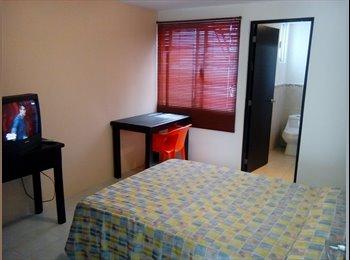 CompartoDepa MX - Habitaciones amuebladas para señoritas - Otras, Puebla - MX$2,000 por mes