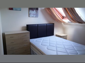 Private lounge, bedroom, study and shower room