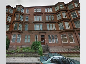 EasyRoommate UK - Large, double room for summer in Glasgow, West End - Hillhead, Glasgow - £325 pcm