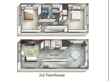 Loft apartment with an open room