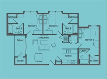 EasyRoommate US - 3BR apartment $490 a month  - Olive Branch, Olive Branch - $490 pcm