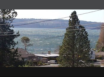 Camano Island home, west side with view