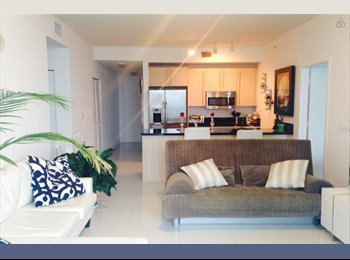 EasyRoommate US - $1300 looking for FEMALE. FURNISHED 2/2. Brickell. - Brickell Avenue, Miami - $1,300 pcm