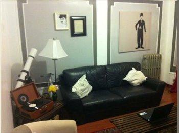FURNISHED 1BR for rent in 3 bedroom apt- 2 Blks fr
