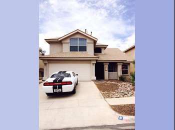 EasyRoommate US -  $1300 / 4br - 2100ft2 - Specious house for rent. 1300 monthly el paso west (253 morning down) - Central El Paso, El Paso - $1,300 pcm