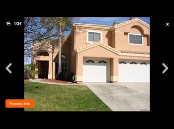 EasyRoommate US - Room for rent in large Tuscany hills home  - Lake Elsinore, Southeast California - $550 pcm