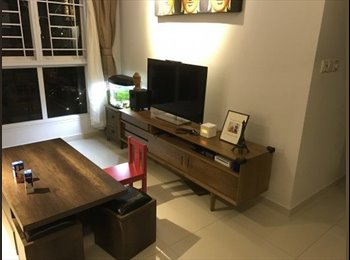 EasyRoommate SG - Room for rent. No agent fee. 3 min walk from Buangkok MRT. WIFI, Aircon, Brand New Bed. New Flat., Sengkang - $888 pm
