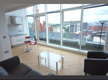 EasyRoommate UK - 2 Double rooms available in duplex penthouse apartment in W3, Manchester - £900 pcm